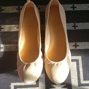 J. Crew Anya Ballet Flat Beige 7.5 New